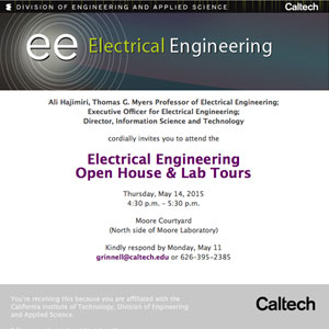 Electrical Engineering Open House